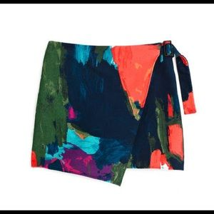 Kate Spade Saturday Splatter Buckle Skirt